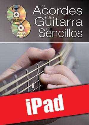 Los acordes en la guitarra son sencillos... con el sistema CAGED (iPad)