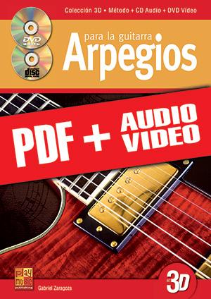 Arpegios para la guitarra en 3D (pdf + mp3 + vídeos)