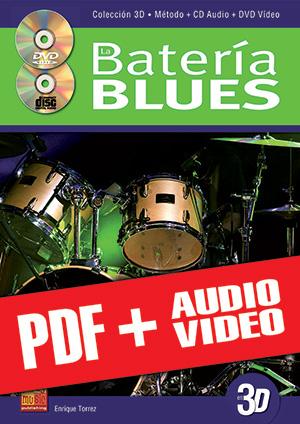 La batería blues en 3D (pdf + mp3 + vídeos)
