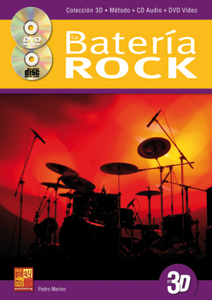 La batería rock en 3D