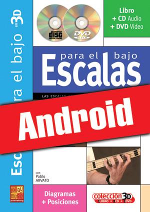 Escalas para el bajo en 3D (Android)
