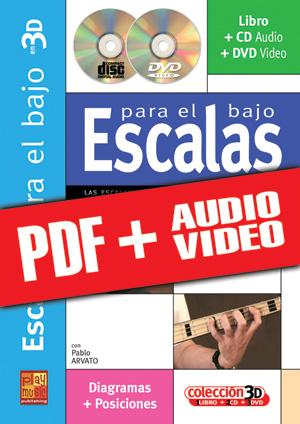 Escalas para el bajo en 3D (pdf + mp3 + vídeos)