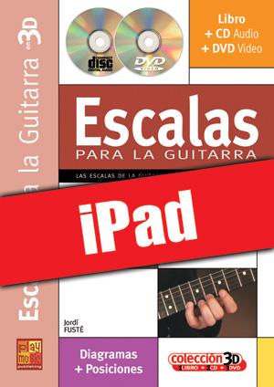 Escalas para la guitarra en 3D (iPad)