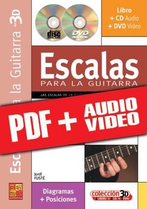 Escalas para la guitarra en 3D (pdf + mp3 + vídeos)