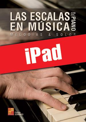 Las escalas en música en el piano (iPad)