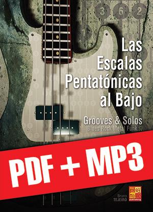 Las escalas pentatónicas al bajo (pdf + mp3)