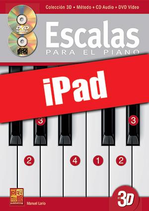 Escalas para el piano en 3D (iPad)