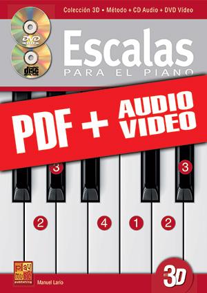 Escalas para el piano en 3D (pdf + mp3 + vídeos)