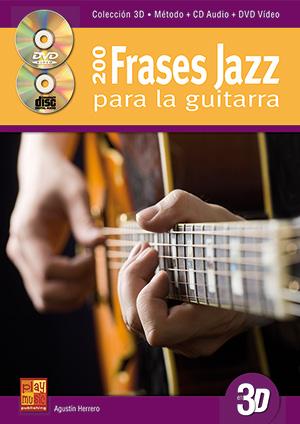200 frases jazz para la guitarra en 3D