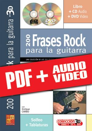 200 frases rock para la guitarra en 3D (pdf + mp3 + vídeos)