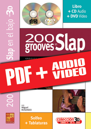 200 grooves en slap en 3D (pdf + mp3 + vídeos)