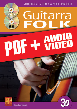 La guitarra folk en 3D (pdf + mp3 + vídeos)