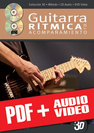 La guitarra rítmica y de acompañamiento en 3D (pdf + mp3 + vídeos)