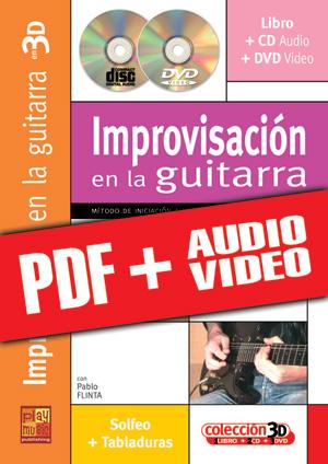 Improvisación en la guitarra en 3D (pdf + mp3 + vídeos)