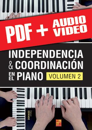 Independencia & coordinación en el piano - Volumen 2 (pdf + mp3 + vídeos)