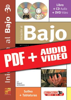 Iniciación al bajo en 3D (pdf + mp3 + vídeos)