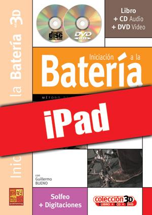 Iniciación a la batería en 3D (iPad)