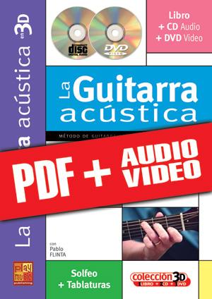 La guitarra acústica en 3D (pdf + mp3 + vídeos)