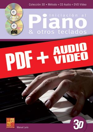 Iniciación al piano y otros teclados en 3D (pdf + mp3 + vídeos)