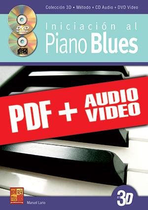 Iniciación al piano blues en 3D (pdf + mp3 + vídeos)