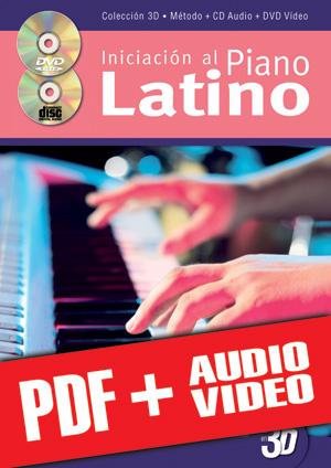 Iniciación al piano latino en 3D (pdf + mp3 + vídeos)