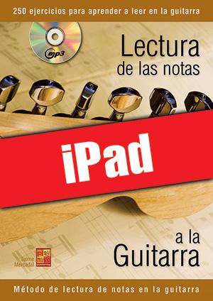 Lectura de las notas a la guitarra (iPad)