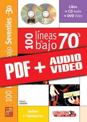 100 líneas de bajo 70's en 3D (pdf + mp3 + vídeos)