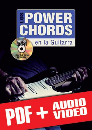 Los power chords en la guitarra (pdf + mp3 + vídeos)