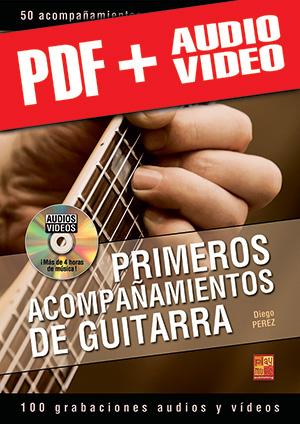 Primeros acompañamientos de guitarra (pdf + mp3 + vídeos)