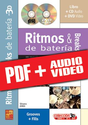 Ritmos & breaks de batería en 3D (pdf + mp3 + vídeos)