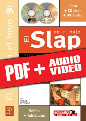 El slap en el bajo en 3D (pdf + mp3 + vídeos)