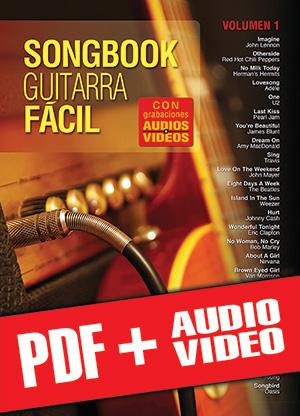 Songbook Guitarra Fácil - Volumen 1 (pdf + mp3 + vídeos)