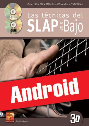 Las técnicas del slap en el bajo en 3D (Android)