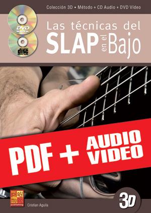 Las técnicas del slap en el bajo en 3D (pdf + mp3 + vídeos)