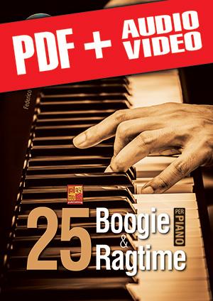 25 boogie & ragtime per pianoforte (pdf + mp3 + video)