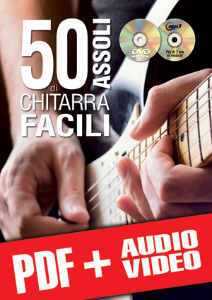 50 assoli di chitarra facili (pdf + mp3 + video)