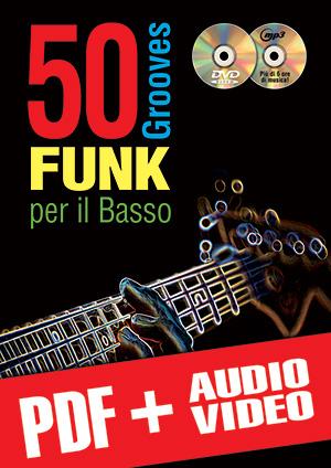 50 grooves funk per il basso (pdf + mp3 + video)