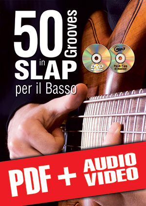 50 grooves in slap per il basso (pdf + mp3 + video)