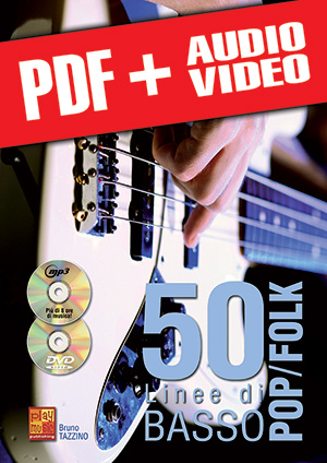 50 linee di basso pop/folk (pdf + mp3 + video)
