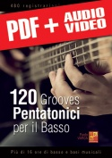 120 grooves pentatonici per il basso (pdf + mp3 + video)