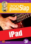 200 grooves in slap in 3D (iPad)