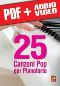 25 canzoni pop per pianoforte (pdf + mp3 + video)