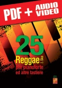 25 Reggae & ska per pianoforte ed altre tastiere (pdf + mp3 + video)