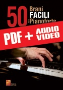 50 brani facili per pianoforte (pdf + mp3 + video)