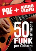 50 ritmiche funk per chitarra (pdf + mp3 + video)