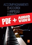 Accompagnamenti con accordi e arpeggi per piano (pdf + mp3 + video)