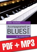 Accompagnamenti & assoli blues al pianoforte (pdf + mp3)