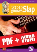 200 grooves in slap in 3D (pdf + mp3 + video)