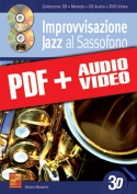 Improvvisazione jazz al sassofono in 3D (pdf + mp3 + video)