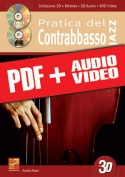 Pratica del contrabbasso jazz in 3D (pdf + mp3 + video)